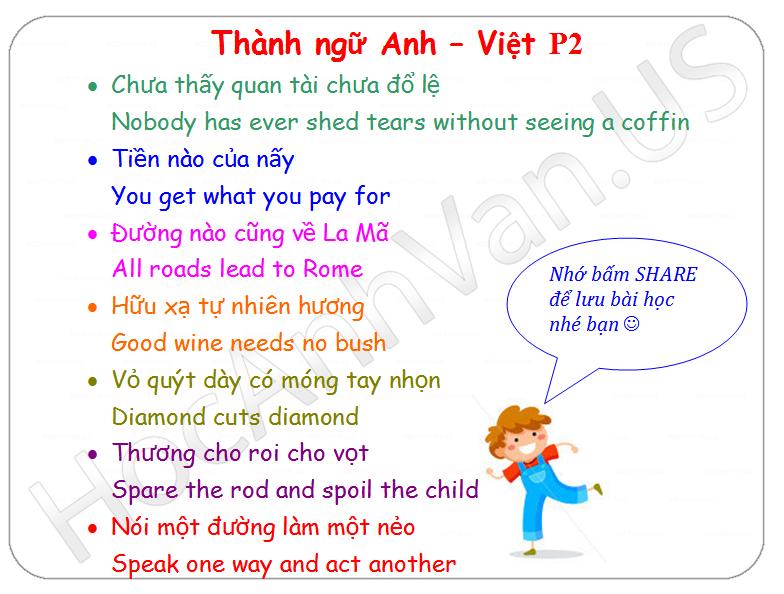 Thanh ngu Anh - Viet