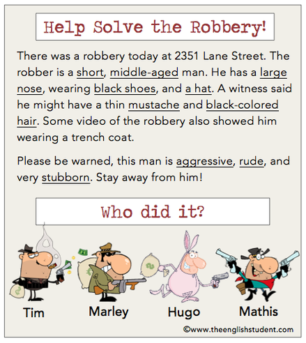 Help solve the Robbery